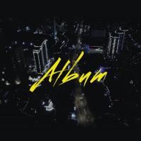 City Drone Night album cover video 4 Okładka albumu template