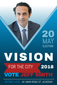 city election campaign poster template