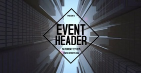 CITY EVENT DIGITAL VIDEO TEMPLATE Facebook Shared Image