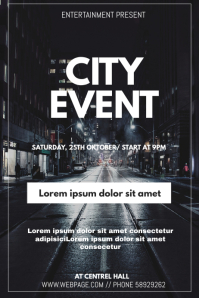 City event flyer template
