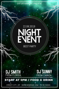 City Event party flyer template