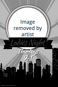 City Ladies Night Bar Concert Flyer Poster Karaoke