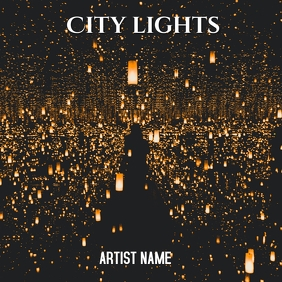City lights album art template