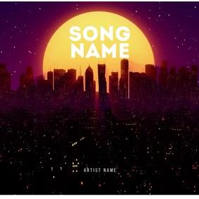 City Moon Lights album cover art template