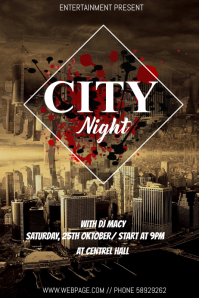 City Music night event flyer template