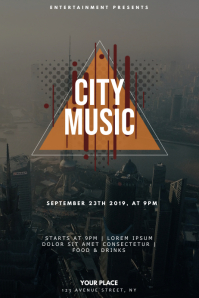 City Music Party Flyer Design Template