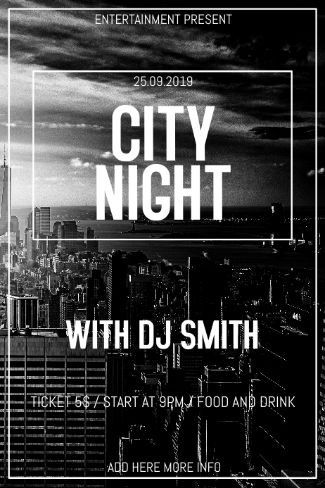 City night club party flyer template