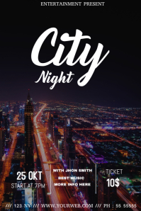 City night event flyer template