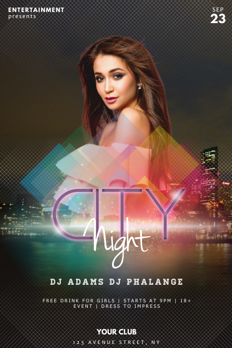 City Night Party Flyer Template