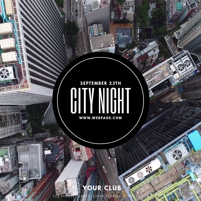 City Night Party Flyer Template Instagram-bericht