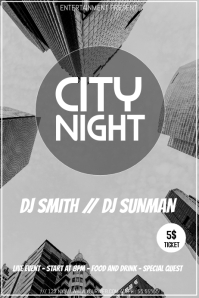 City night party video flyer template