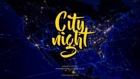 City night party video promotion template for facebook