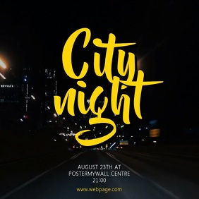 City night party video promotion template for instagram