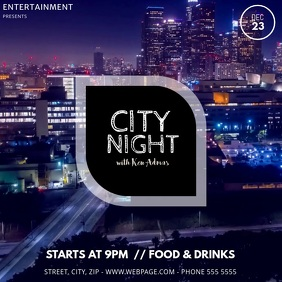 City Night Party Video template Instagram 帖子