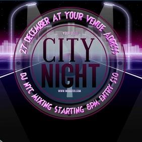 CITY NIGHT TEMPLATE Pos Instagram