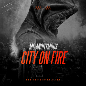 City on Fire CD Cover Art Template