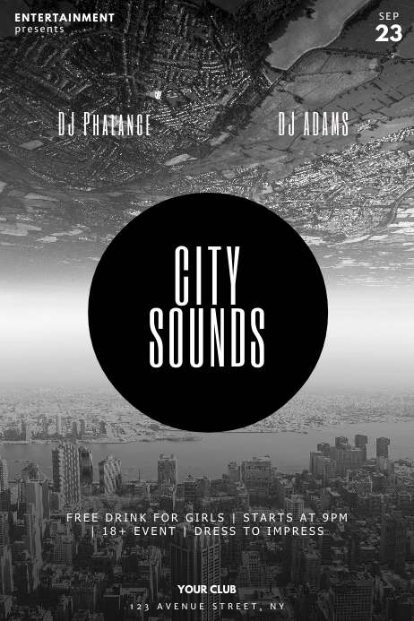 City Party Flyer Template