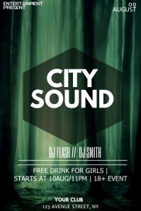 City Party night flyer template