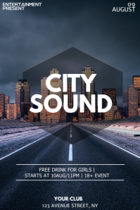 City Party night flyer template 海报