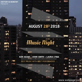 City Party Night Video Advertising Event Template