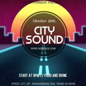 City party video flyer template