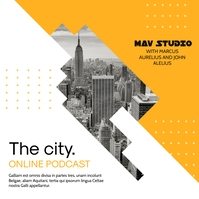 city podcast yellow and white simple advertis Wpis na Instagrama template