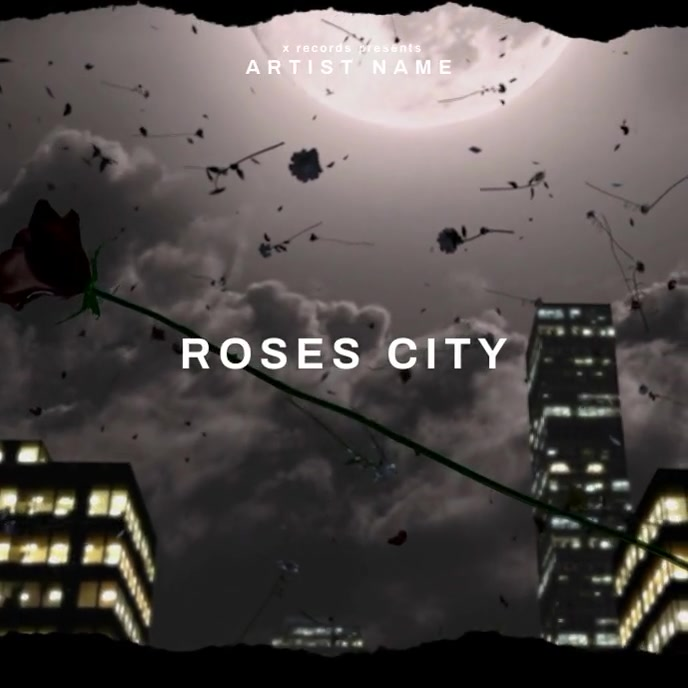 City Roses animated - Album Cover Templates