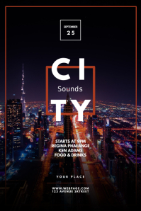 City Soul night club party flyer template