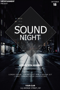 City sound flyer template