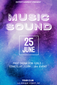 City sound Party night flyer template