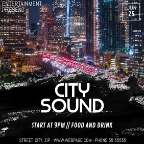 city sound party video flyer template