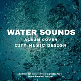City sounds album cover design template