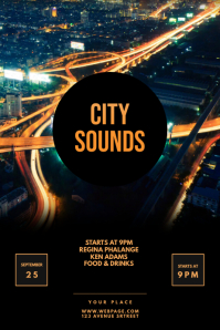 City Sounds Club party flyer template