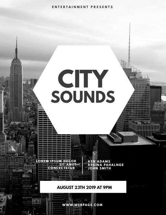 City Sounds Flyer Template