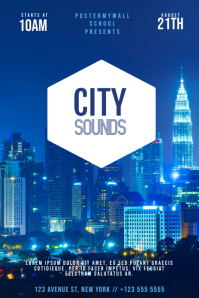 City Sounds Party Flyer Template