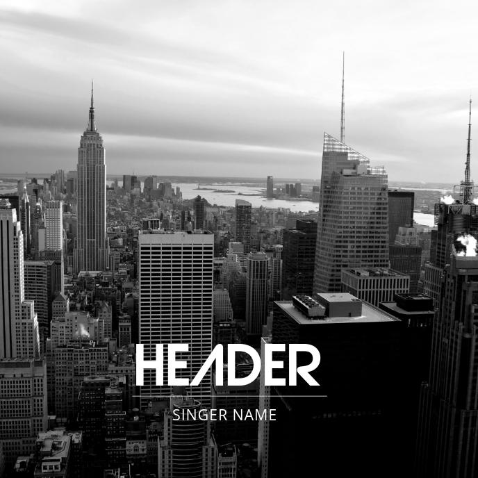 City Sounds Urban Album Cover Template