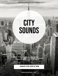 City Sounds urban Flyer Template
