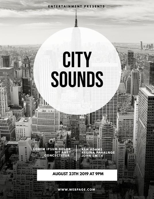 City Sounds urban Flyer Template
