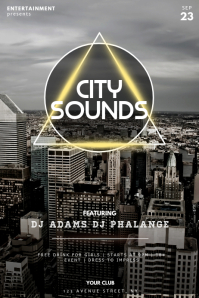 City Sounds Urban Party Flyer Template