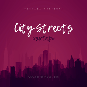City Streets Mixtape CD Cover Template