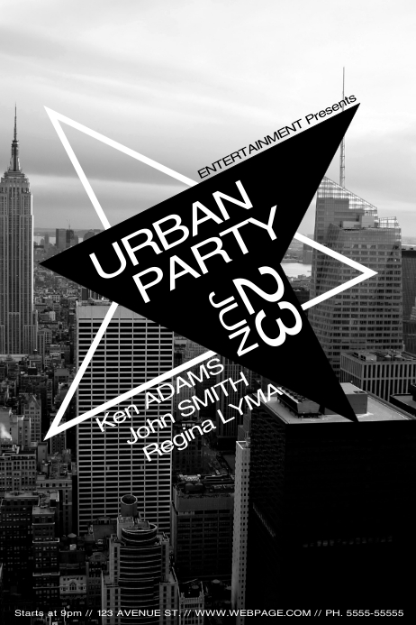 City Urban Party Flyer Template