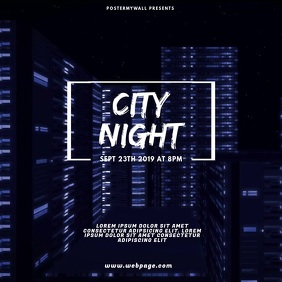 City Urban Party Video Design Template