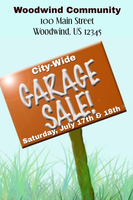 City-Wide Garage Sale Flyer