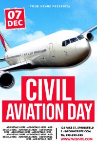 Civil Aviation Day Poster Plakat template