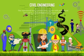 Civil Engineering Banner 4' × 6' template