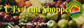 CJ's Fruit Stall Banner Cartel de 2 × 6 pulg. template