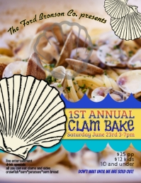clam bake crab boil flyer template