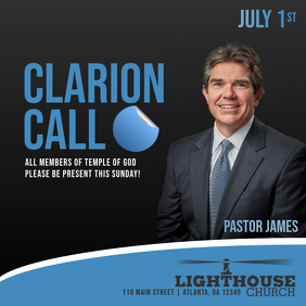 Customizable Design Templates for Clarion Call   PosterMyWall