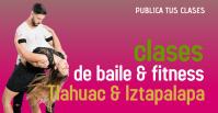 clases de baile Facebook Group Cover Photo template