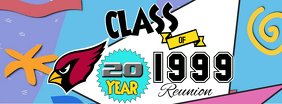 class of 1999 reunion Facebook Cover Photo template